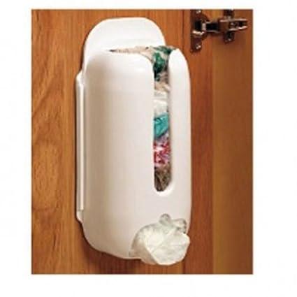 Soporte de pared de plástico bolsa de transporte recipiente de almacenaje Soporte Organizador Reciclaje Caja