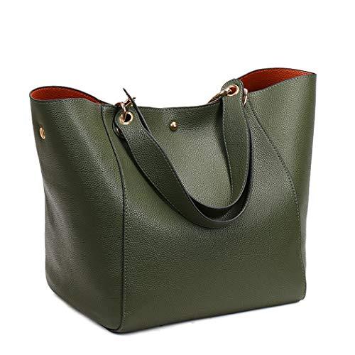 DEERWORD Shoppers Verde y clutches Bolsos Mujer de bandolera mano bolsos de hombro Negruzco y Carteras rfrW5PwAq