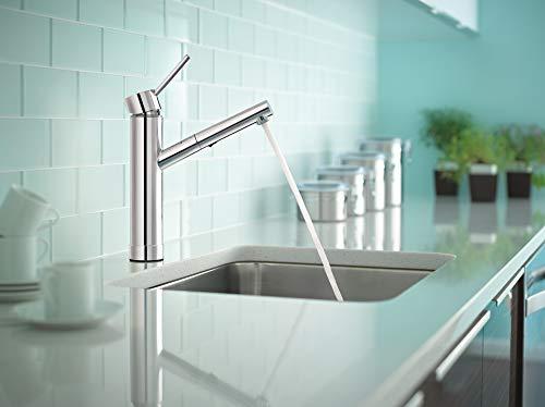 Kitchen Moen 7626SRS Tilt One-Handle Pullout Modern Kitchen Faucet, Spot Resist Stainless modern sink faucets