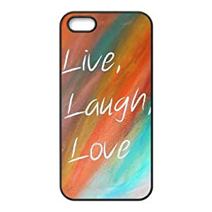 iphone5 5s cell phone cases Black Live Laugh Love fashion phone cases HRE4530421