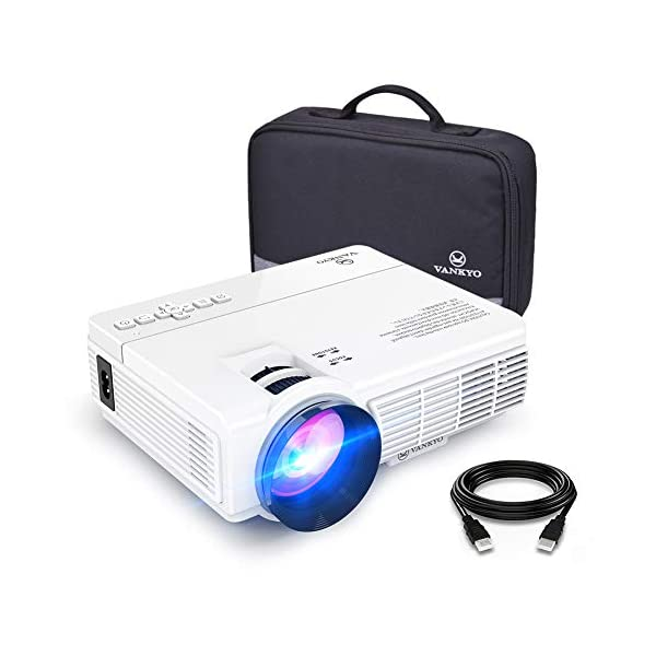 "VANKYO LEISURE 3 Mini Projector, 1080P and 170"" Display Supported, 2400 Lux..."