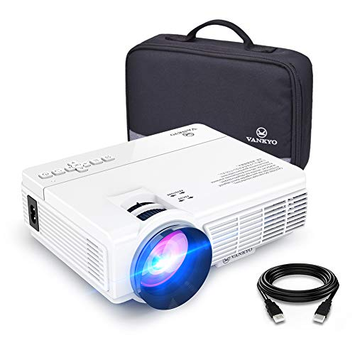 VANKYO LEISURE 3 Mini Projector, 1080P and 170'' Display Supported, 2400 Lux Portable Movie Projector with 40,000 Hrs LED Lamp Life, Compatible with TV Stick, PS4, HDMI, VGA, TF, AV and USB (Projector For Outdoor)
