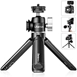 Mini Tripod, ULANZI Tabletop Phone Tripod Camera Holder with 360° Ball Head & Cold Shoe, Extendable Mini Selfie Stick Tripod for for Camera iPhone Android Projector Monopod Webcam DSLR Gopro