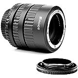 SHOOT Auto Focus Macro Extension Tube Set for Nikon D7200 D7100 D7000 D5300 D5200 D5100 D5000 D3100 D3400 D3300 D3000 D800 D600 D300s D300 D90 D80 Digital SLR Cameras