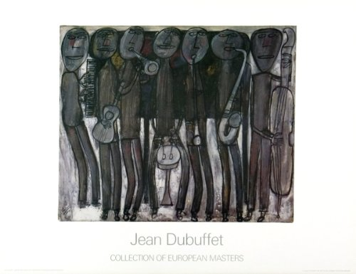 Jean Dubuffet-New Orleans Jazz Band-Poster