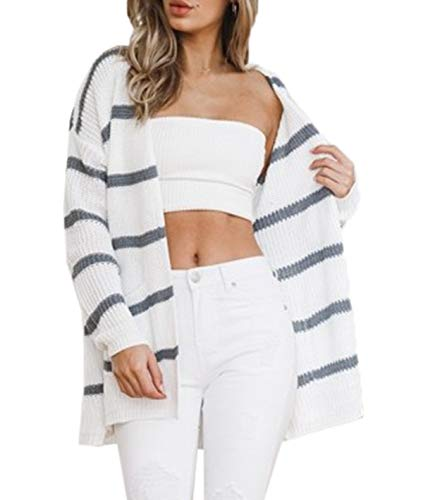 Casual Chaud Chandail Ray Vestes Automne Manches Cardigan Hiver Hauts Mi Longue Maille Tricot Pull Longues en Mode Outwear Femmes nYxCwUZx