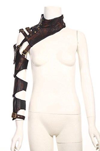 [Steampunk VTG Retro leather arm warmer bolero Shrug Shawl Cape Wraps Top Jacket] (Pirate Clothing And Accessories)