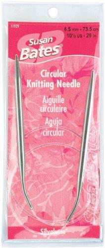 (Susan Bates 11929-7 29-Inch Silvalume Circular Knitting Needle, 4.5mm)