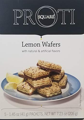 Proti Fit High Protein Wafer Bar – Lemon (5 Servings/Box) – Trans Fat Free, Aspartame Free, Cholesterol Free