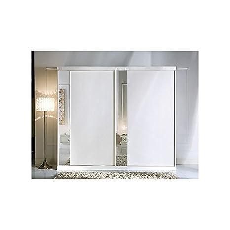 Armadio 2 Ante Scorrevoli A Specchio.Estea Mobili Armadio 2 Ante Scorrevoli Con Specchio Bianco Come