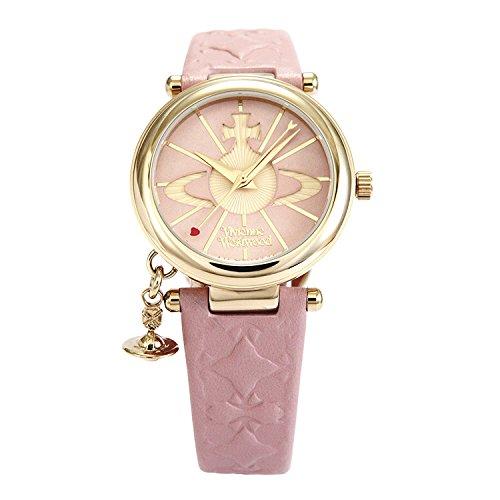 Vivienne Westwood watch ORB pink dial pink leather Quartz VV006PKPK Ladies