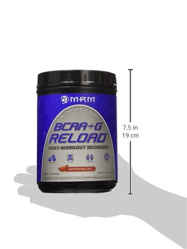 MRM BCAA+G Reload, Ultimate Muscle Post Workout Recovery Formula, Supports Muscle Recovery, Reduces Fatigue & Muscle Soreness (Watermelon, 29.6 Ounces)