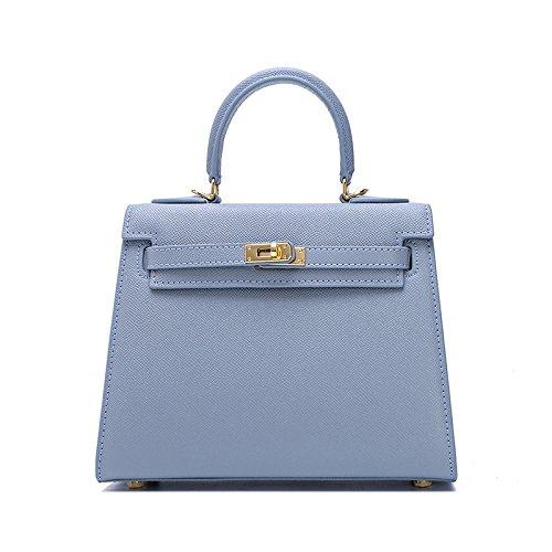 GUANGMING77 Kylie _ Borsette Borsette Borsetta Bag Mini Borsa Tracolla Palm Messenger,Kaki Flax blue