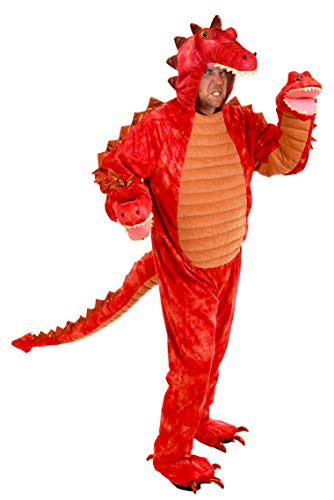 3 Headed Dragon Halloween Costume (Princess Paradise Men's Hydra The 3-Headed Dragon Deluxe Costume, red,)