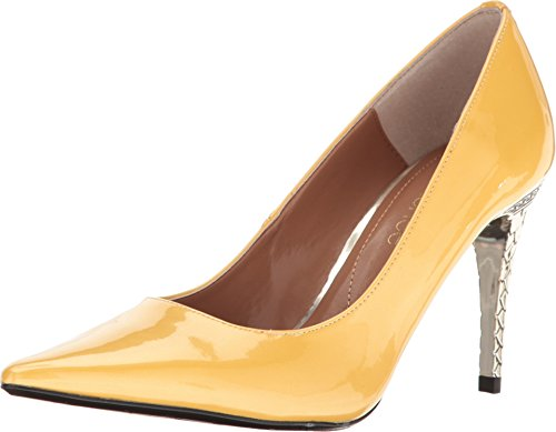 J. Renee Maressa Women's Pump 6 B(M) US Lemon-Patent (Yellow Patent Footwear)