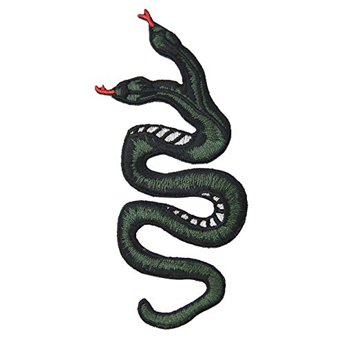 The Double-Headed Snake Patch Embroidered Applique Badge Iron On Sew On Emblem ()