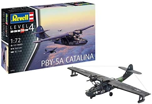 [해외]Revell GmbH 03902 PBY-5a Catalina Plastic Model Kit Grey 1:72 / Revell GmbH 03902 PBY-5a Catalina Plastic Model Kit Grey 1:72