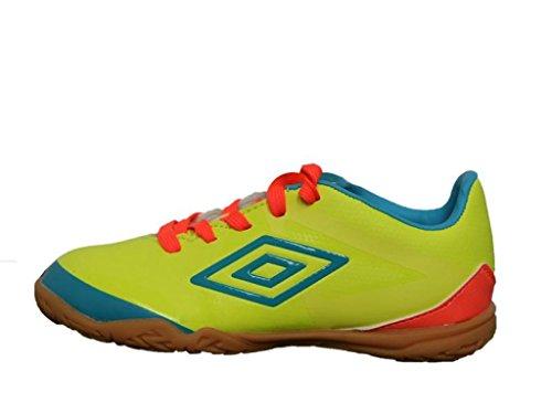 Umbro 80924U-Dkc - Zapatillas para niño, color amarillo fluor / azul fluor / coral fluor, talla 32