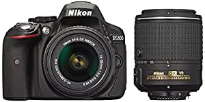 Nikon D5300 24.2 MP CMOS Digital SLR Camera Double Zoom Lens Kit with 18-55mm f/3.5-5.6G ED VR II + 55-200mm f/4.5-5.6G - International Version (No Warranty)
