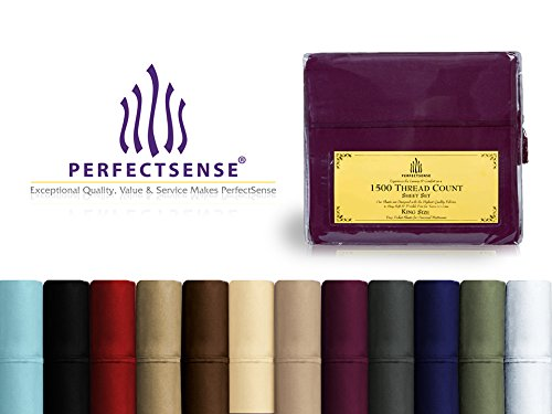 New 1500 Thread Count Luxury Soft Deep Pocket & Wrinkle-Free 4pc Bed Sheet Sets by PerfectSense - Cream, (Ivory 1500 Thread)