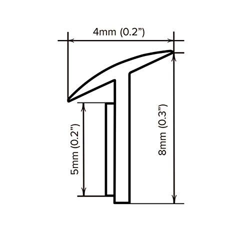 Rubber welting trim gasket fender flare Rublok Black 3.5m 11.5ft for a pair