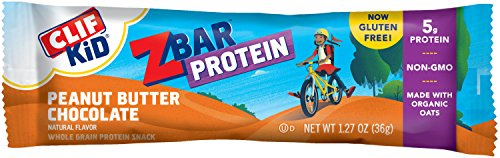 CLIF KID ZBAR – Protein Snack Bar – Peanut Butter Chocolate 1.27 Ounce Gluten Free Bar, 10 Count