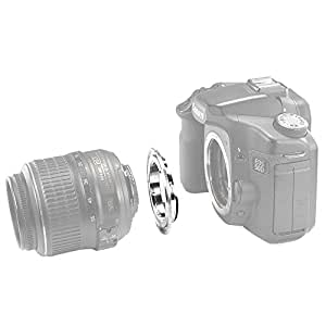 Neewer Lens Mount Adapter for AF Confirm Nikon AI Lens to Canon EOS DSLR camera takes EF lens /such as Canon EOS 1D, 1DS, Mark II, III, IV, 1DX, 1DC, 5D, 5D Mark II, II 7D, 10D, 20D, 30D, 40D, 50D, 60D, 70D Digital Rebel T3 T2i T3i T4i T5i/1100D 550D 600D 650D 700D
