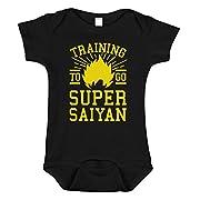 SARBIEN Designs Training to Go Super Saiyan Bodysuit, Funny Anime Baby (0-3 Months)