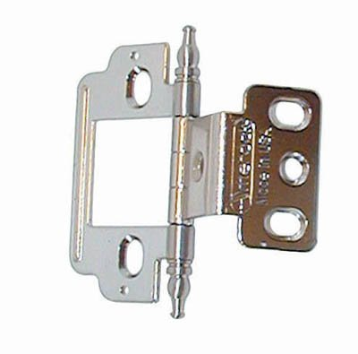 Sterling Door Hinges (Amerock Full Inset Partial Wrap Free Swinging Minaret Tip Hinge For 3/4
