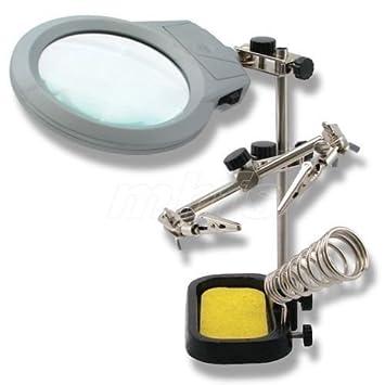 Lafayette asimiento y metal ligero Reggischeda con una lupa y soporte para el soldador: Amazon.es: Bricolaje y herramientas