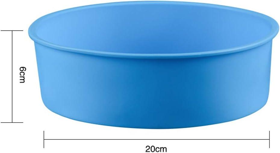 Silicone Red 1 moule /à g/âteau rond en silicone anti-adh/ésif pour cuisine 6 inches
