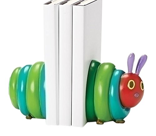 """The Very Hungry Caterpillar Tall Bookends from The World of Eric Carle (Set of 2), 4.75"""""""