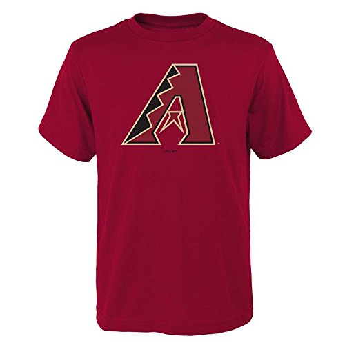 Outerstuff MLB Youth 8-20 Team Color Performance Primary Logo T-Shirt (Large 14/16, Arizona Diamondbacks)