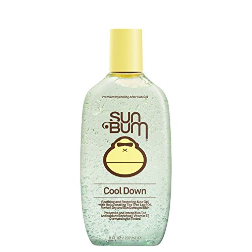 Sun Bum Cool Down Hydrating After Sun Gel, 8 oz Bottle, 1 Count, Hypoallergenic, Vitamin E, Cocoa Butter, Gluten Free, Vegan