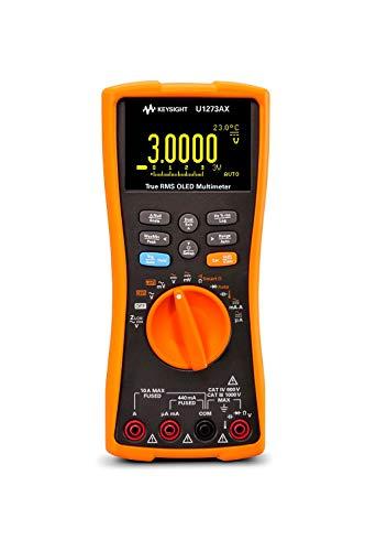 KEYSIGHT U1273AX Handheld Digital Multimeter, 4.5 Digit, OLED Display, -40 deg C to 55 deg C Operating Temperature
