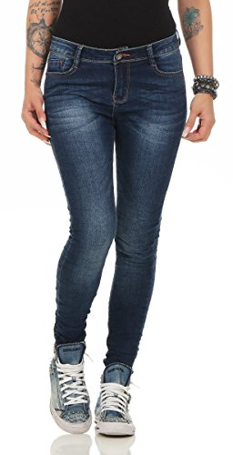 Fashion4Young - Jeans - Femme turquoise turquoise 38 Bleu