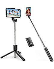 """ATUMTEK 40"""" Selfie Stick, Bluetooth Selfie Stick Tripod with Wireless Remote for iPhone 13/12/11/11 Pro/XS/X/8/7 Plus, Samsung Galaxy S20/S10/S9, Huawei and Other 4.7"""" to 6.5"""" Smartphones"""