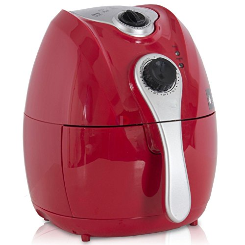 Eight24hours Red Electric Air Fryer with Temperature Control