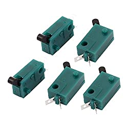uxcell 5 Pcs DC 50V 1A SPST Momentary Micro Miniature Switch Green for Camera