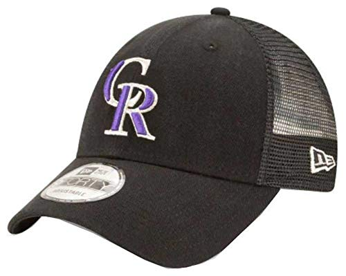 New Era Colorado Rockies Primary Logo Trucker 9Forty Adjustable Hat