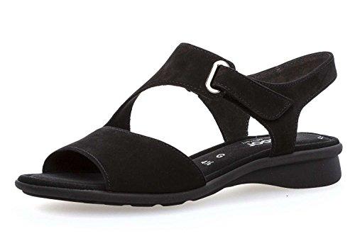 Gabor Troost Basic Bruin 86.063.33 Groot Damesschoenen Sandalette Zwart In De Maten Boven