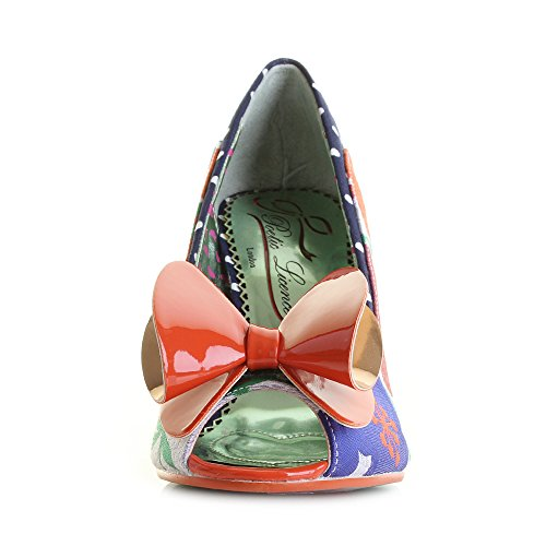 Poetic Licence Womens Stage Struck Orange Multi High Heel Shoes COunRwERew