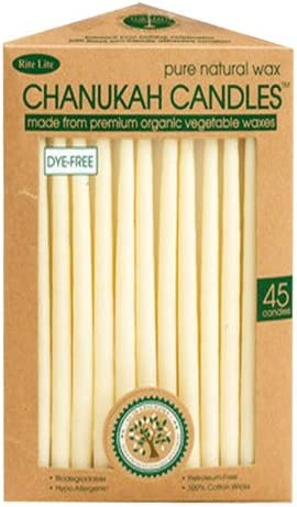 Vegetable Wax Chanukah Candles Ivory
