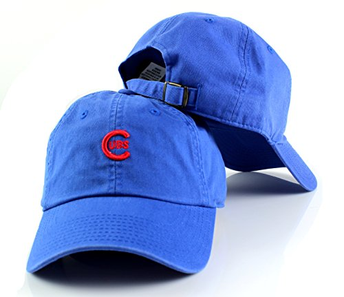 American Needle MLB Micro Team Logo Slouch Adjustable Dad Hat (Chicago Cubs)