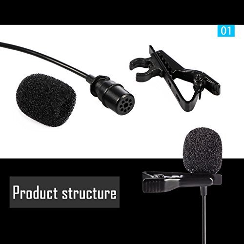 BOYA LM400 Dual- Clip Microphone 4M Cable IPhone Android PAD Video Record Interview Omnidirectional Microphone.