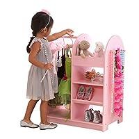 KidKraft 12510 Wooden Fashion Pretend Dress-Up Station Children