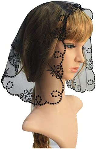 Amazon.com: Lace Crafts - Embroidery Catholic Lace Veil Church Lady Head Covering Veil Mantilla: Arts, Crafts & Sewing