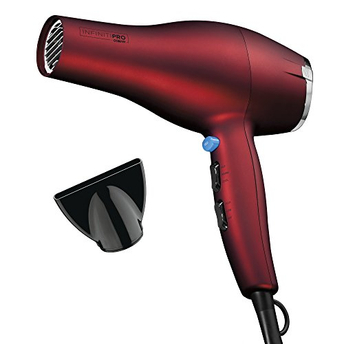 INFINITIPRO BY CONAIR 1875 Watt Full Size Salon Performance AC Motor Styler/Hair Dryer; Soft Touch Red (Best Hair Dryer For College)