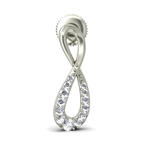 Or blanc 18 K 0.264 CT TW Round-cut-diamond (IJ | SI) Boucles d'oreille à tige