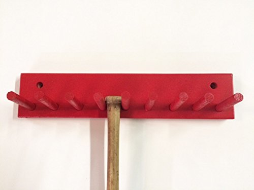 Baseball Bat Rack Display Holder 8 Mini Collectible Bats Red